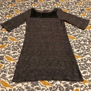 THML Grey Sweater Dress with Faux Leather EUC Sz S